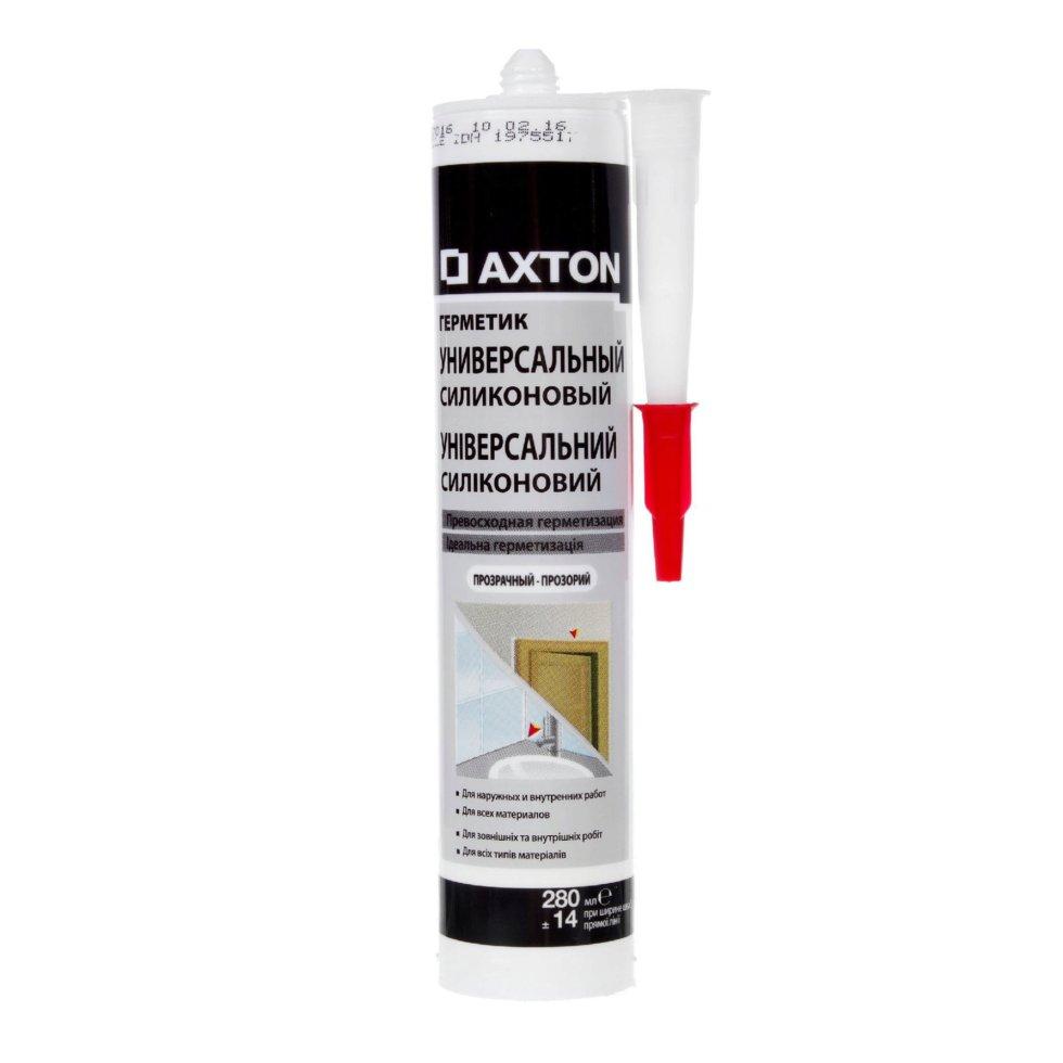 Герметик силиконовый прозрачный Axton, универсальный, 280 мл
