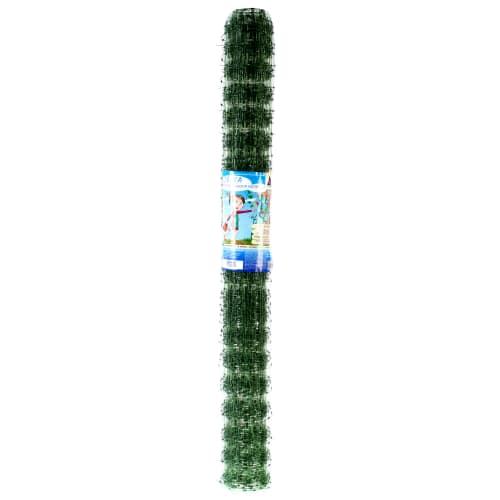 Сетка для вьющихся растений, размер ячейки 45х45 мм, высота 100 см, цвет хаки