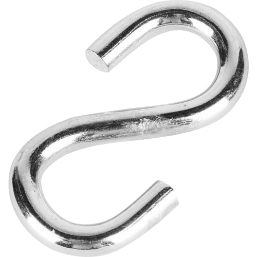 Крючок S-образный Standers 4х6.5 мм, сталь оцинкованная, цвет серебристый
