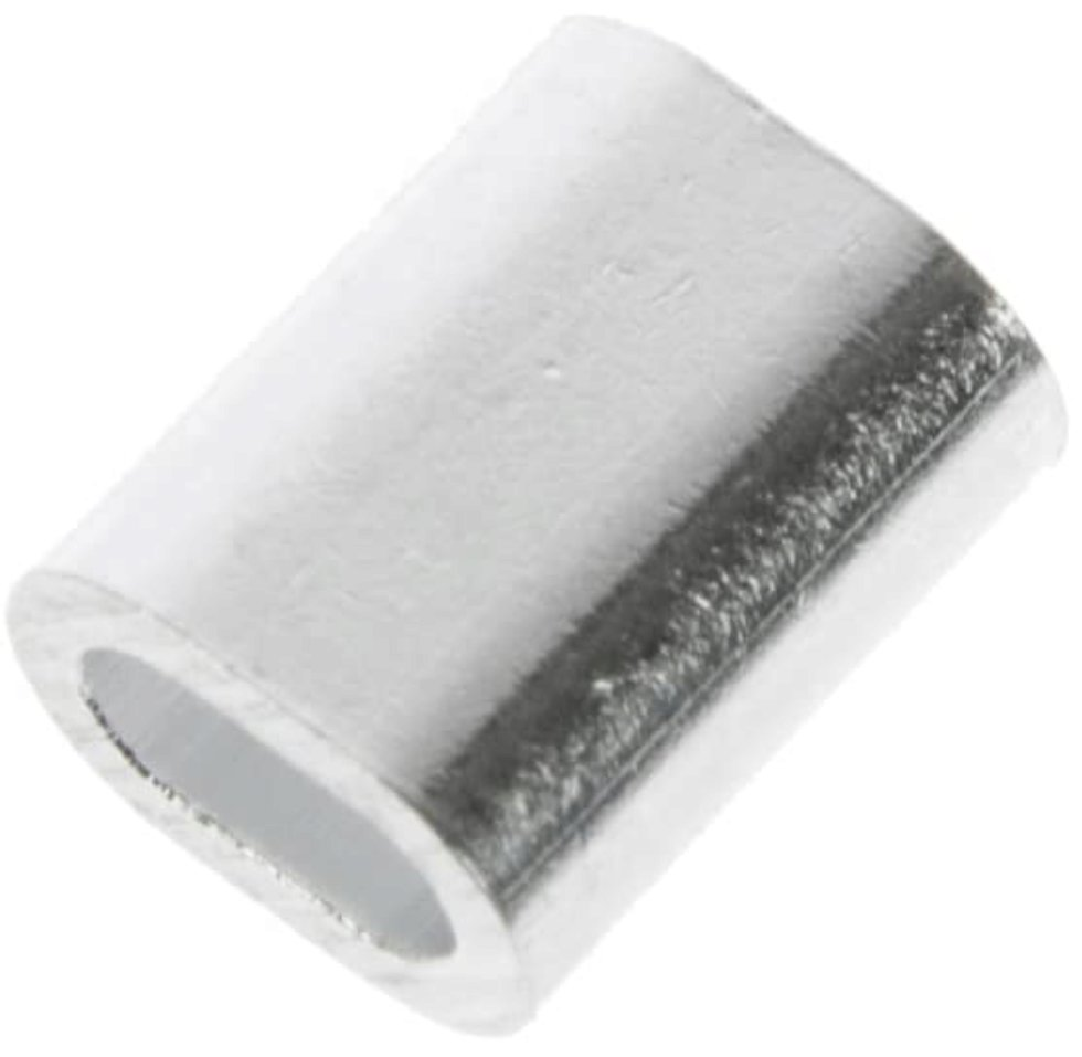 Наконечник троса 2 мм, алюминий, 8 шт.