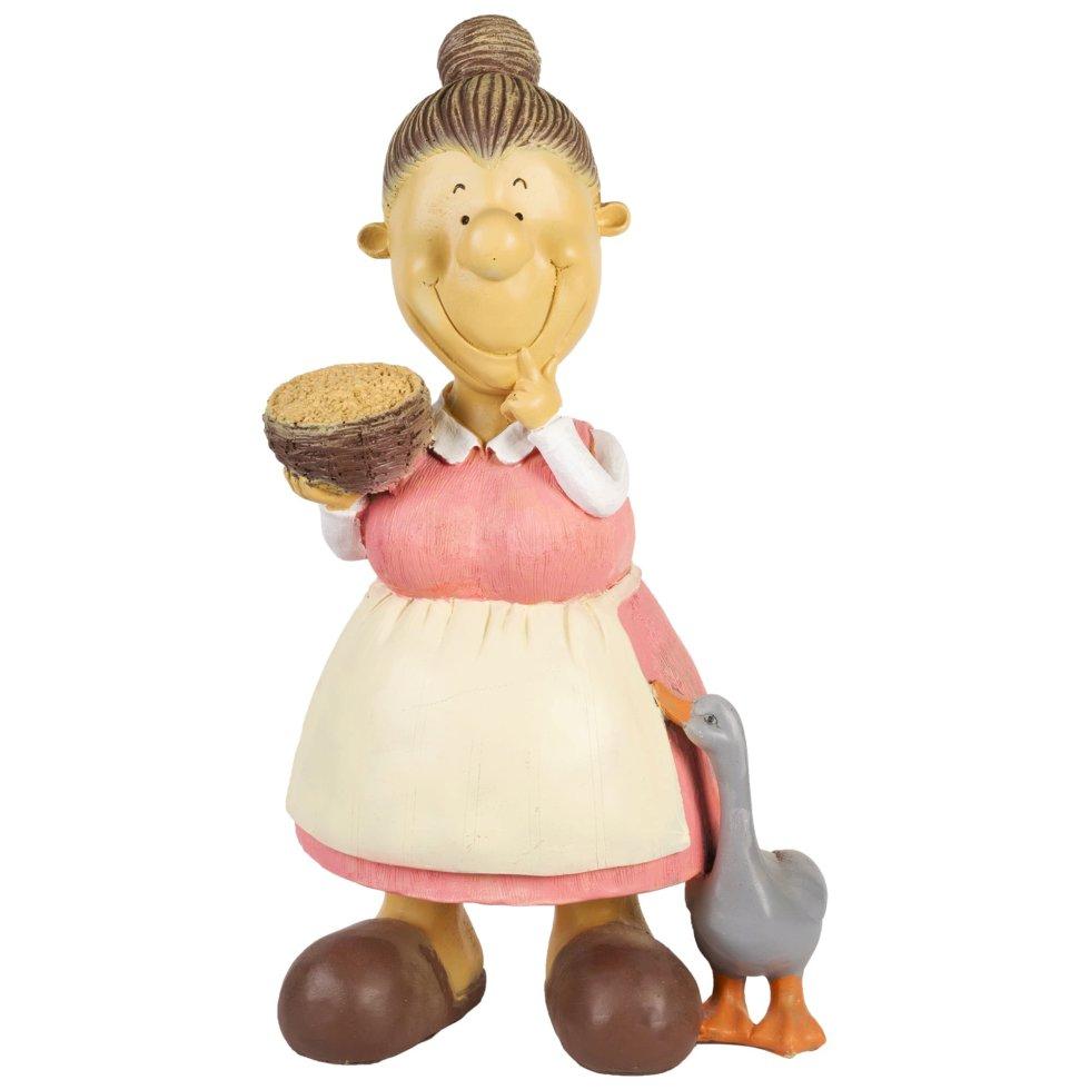 Фигура садовая «Бабка с пшеницей» высота 60 см