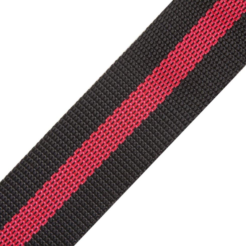 Ремень 40 мм, 5 м, полипропилен, цвет черно-красный
