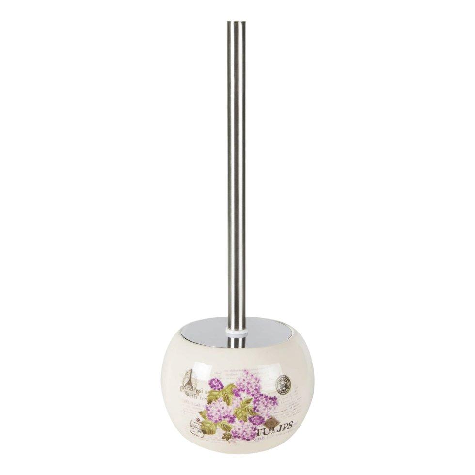 Ёршик для унитаза напольный Vidage «Violetta», керамика, цвет белый
