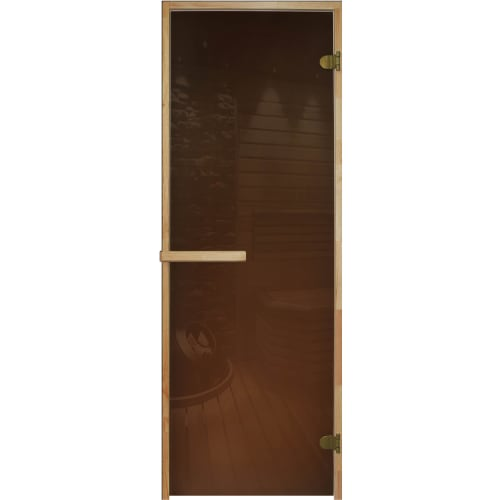 Дверь для сауны, 69х189 см, цвет бронза прозрачная