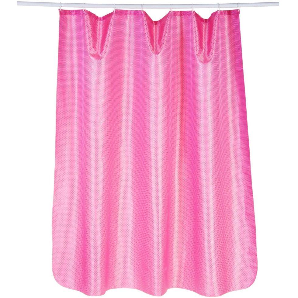 Штора для ванной комнаты «Бриллиант» 180х180 см цвет розовый