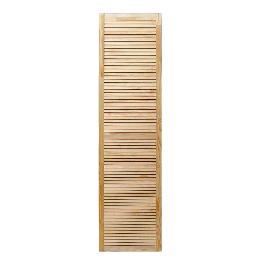 Дверка жалюзийная 2013х494х20 мм хвоя сорт А