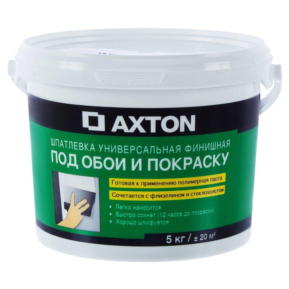 Шпаклёвка универсальная финишная Axton, 5 кг