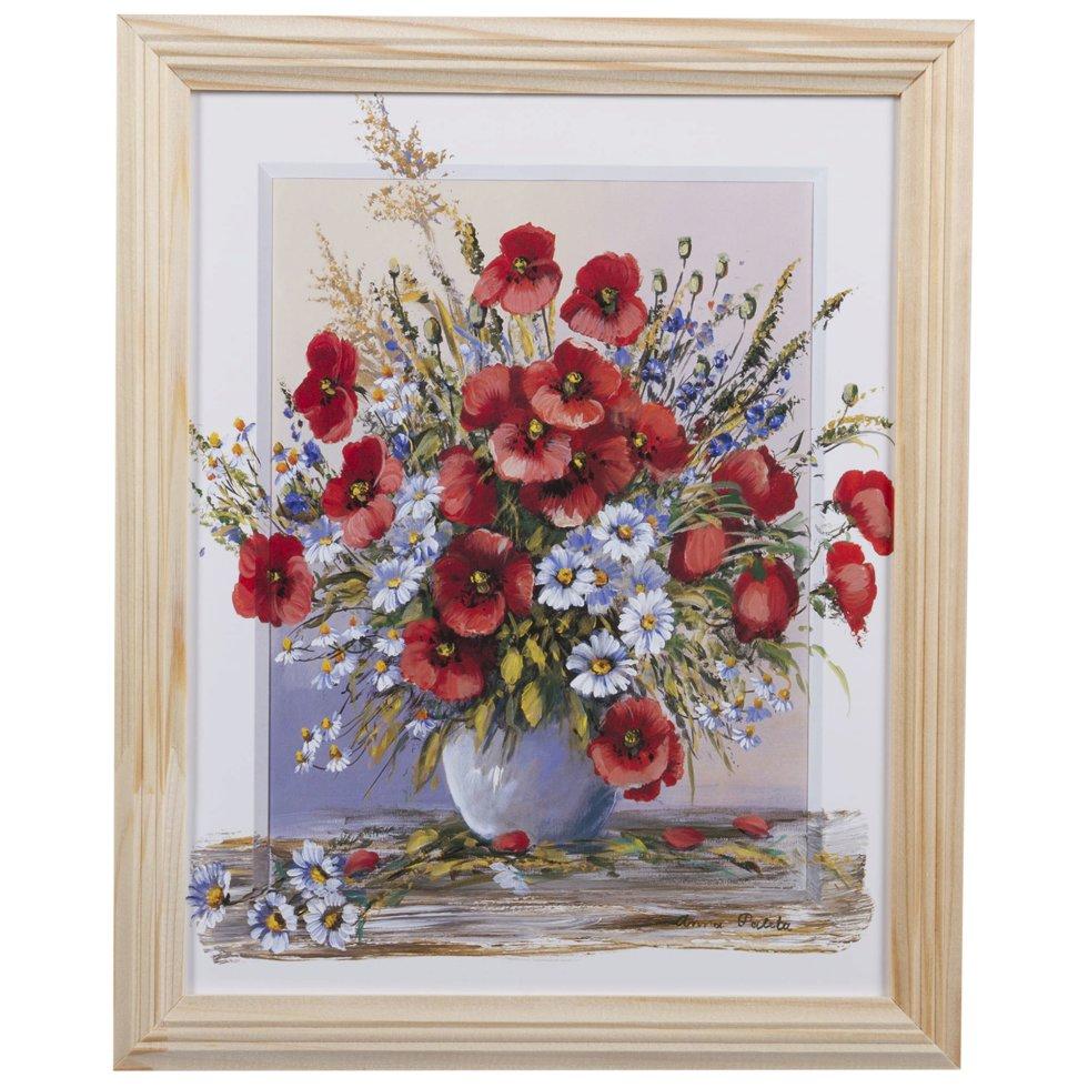 Постер в раме 20х25 см «Полевые Цветы»