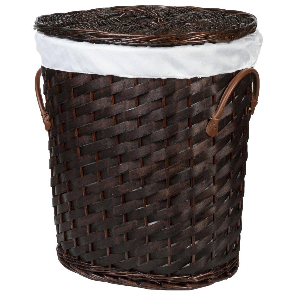 Корзина для белья «Овал» плетёная цвет коричневый