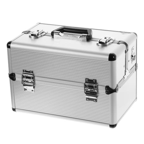 Ящик для инструмента Dexter 365х225х250 мм, алюминий/ДВП, цвет серебро