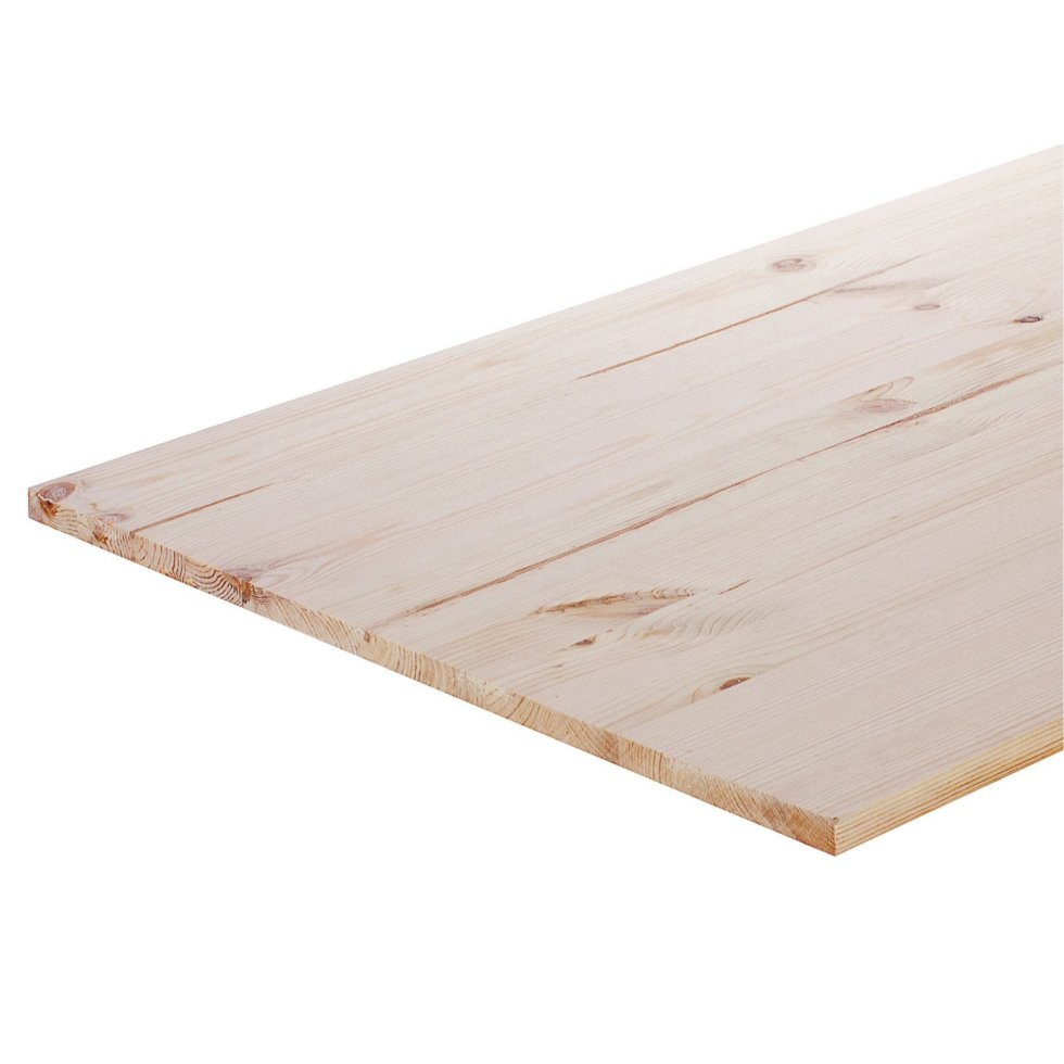 Мебельный щит 2000х600х28 мм хвоя, сорт A/B