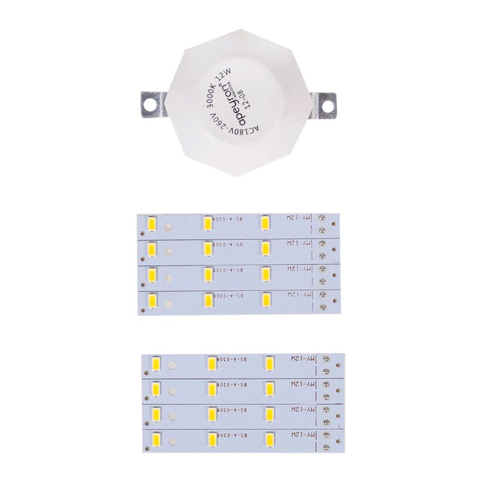 Лампа светодиодная для светильника настенно-потолочного до 180 мм 12 Вт свет тёплый белый
