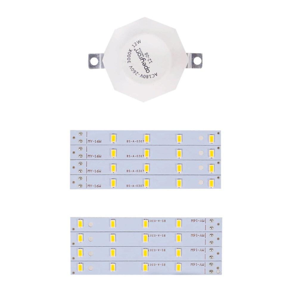 Лампа светодиодная для светильника настенно-потолочного до 220 мм 16 Вт свет тёплый белый