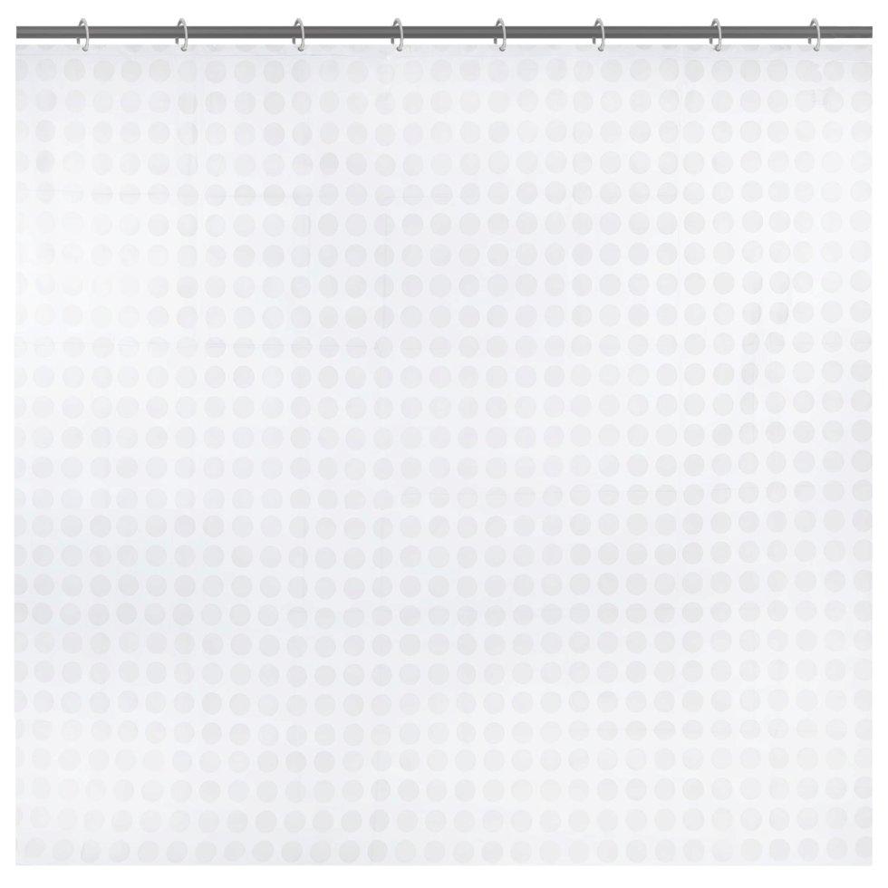 Штора для ванной комнаты «Белая плитка» 180x180 см цвет белый