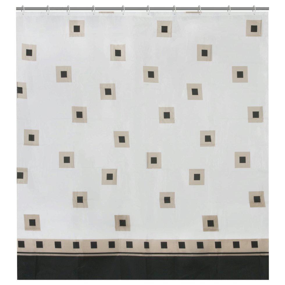 Штора для ванной комнаты «Classicus» 180х180 см цвет белый