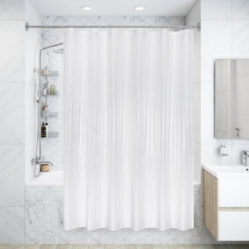 Штора для ванной комнаты «Silver Silk» 180х180 см цвет белый