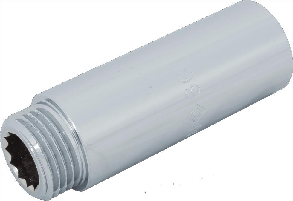 Удлинитель, внутренняя резьба, 1/2х60 мм, цвет хром