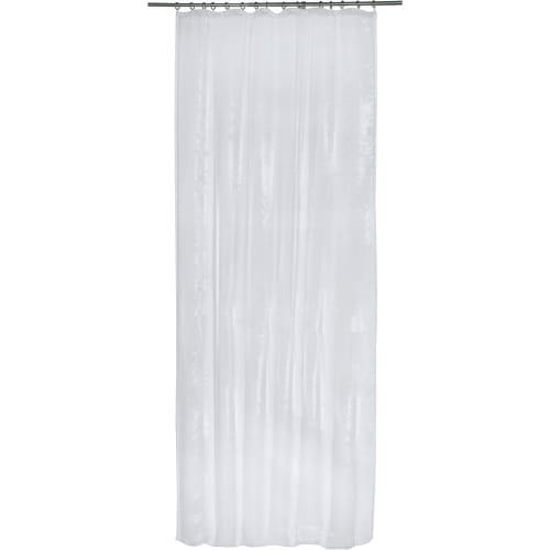 Тюль на ленте 140x260 см органза цвет белый