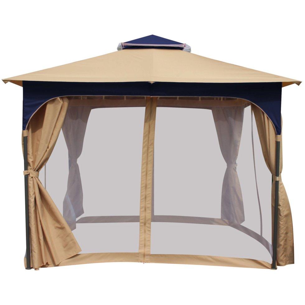 Набор для павильона «Сапфир»: штора, сетка, тент, сумка для переноски,цвет белый
