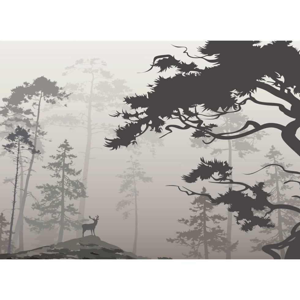 Фотообои флизелиновые «Туманный лес» 370х270 см