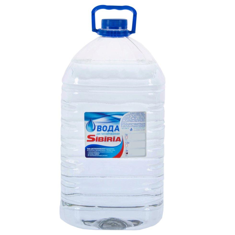 Вода дистиллированная, 5 л