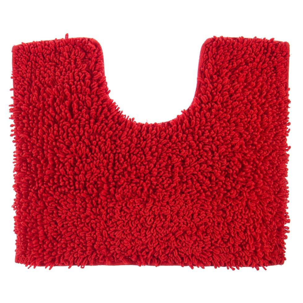 Коврик для туалета Crazy, 50x40 см, цвет красный