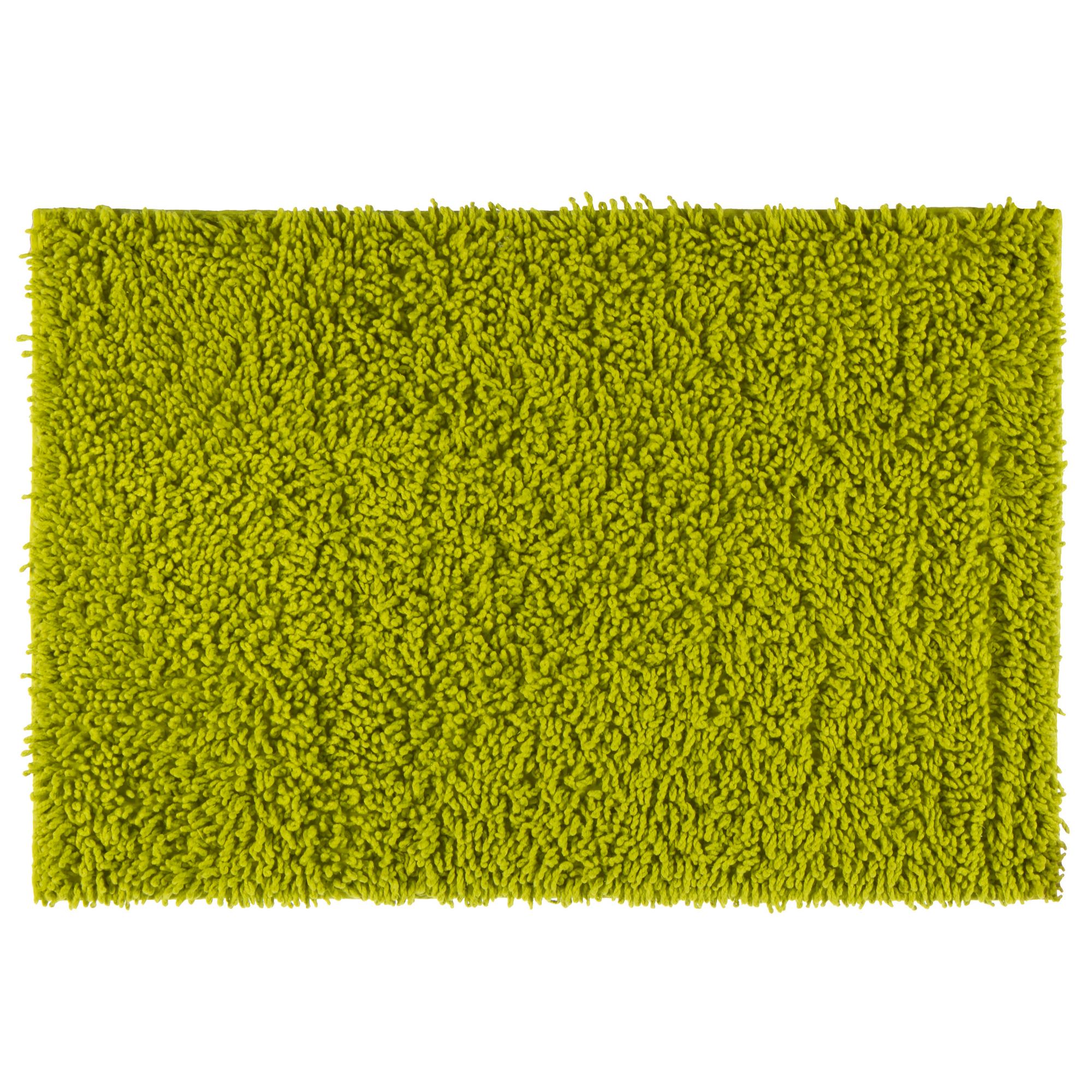 Коврик для ванной комнаты «Crazy» 50x70 см цвет зелёный