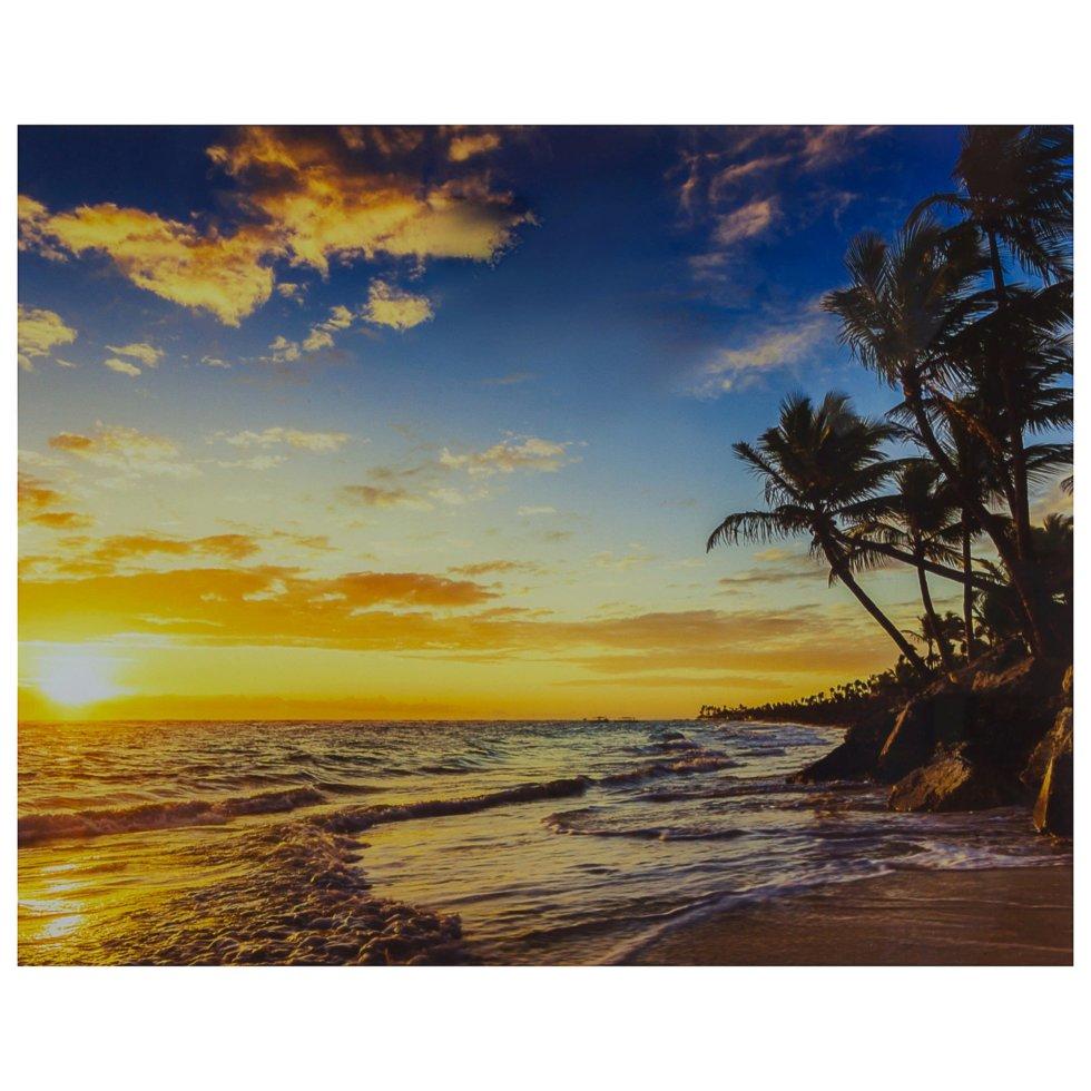 Картина на стекле 40х50 см «Райский остров»