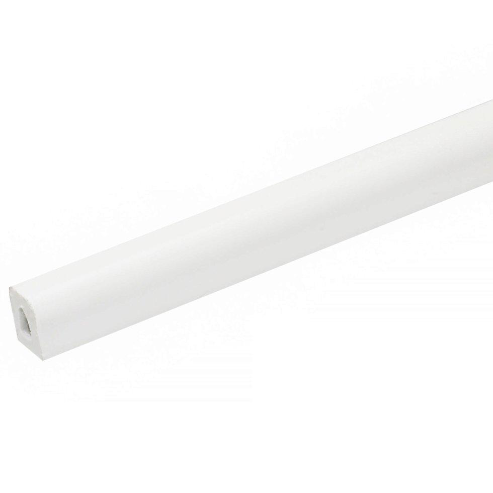Штапик 10x14x2700 мм, ПВХ вспененный, цвет белый