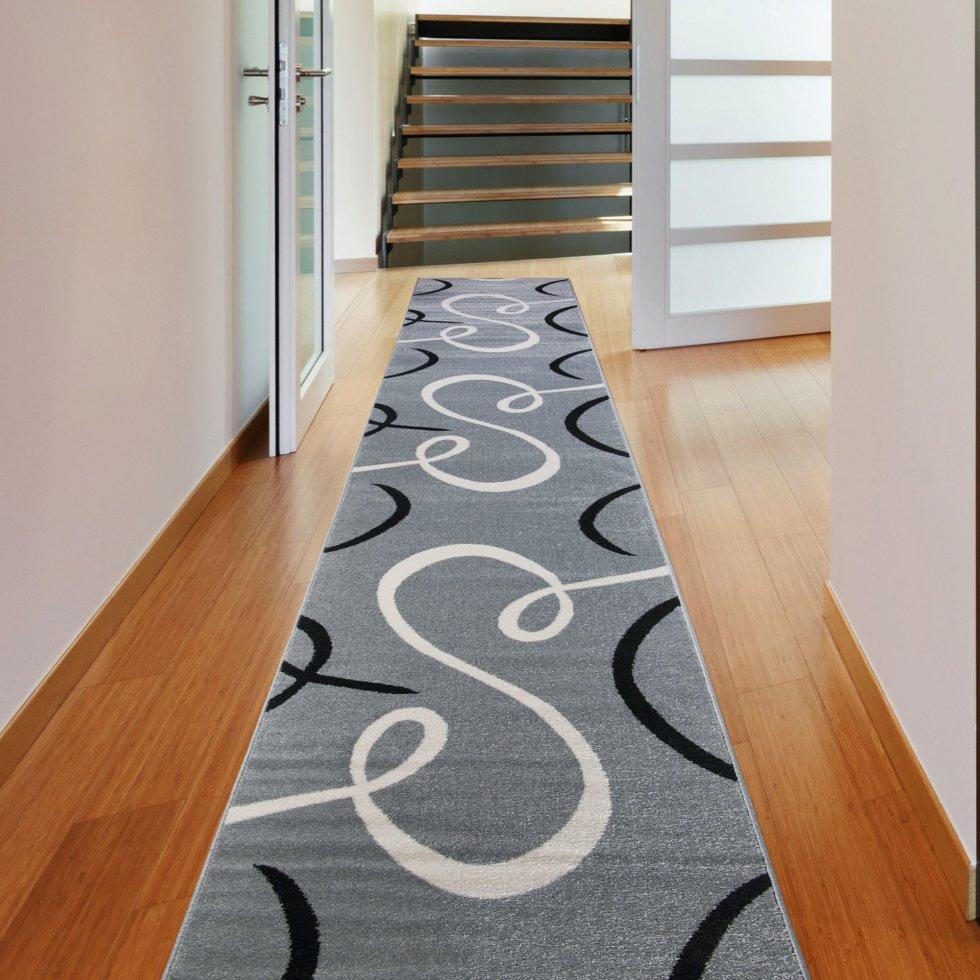 Дорожка ковровая «Фиеста 501» полипропилен 0.8 м цвет серый