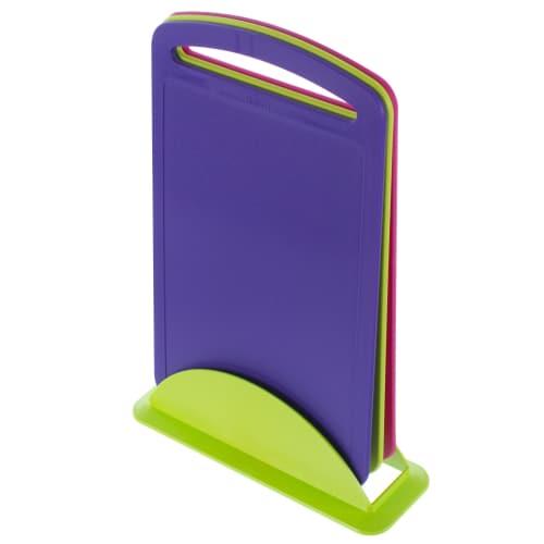 Набор разделочных досок 240х335 мм цвет фиолетовый/фуксия/салатовый