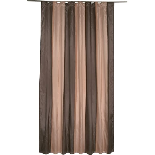 Штора на ленте «Моса» 200х280 см цвет серо-шоколадный