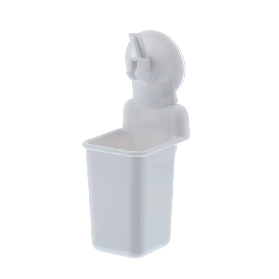 Стакан подвесной для зубных щёток присоска «Easy Solution», цвет белый