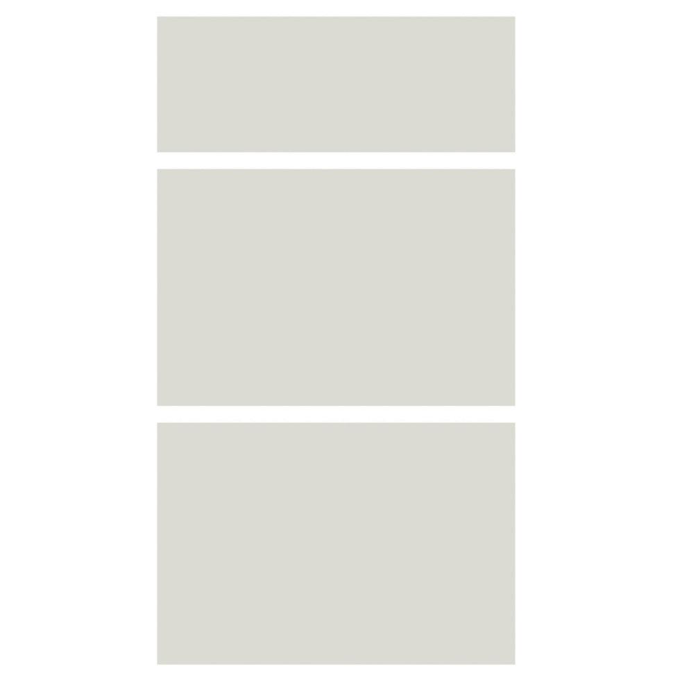 Дверь для шкафа Delinia «Айс» 3 ящика, 40 см, лакированная ЛДСП, цвет белый