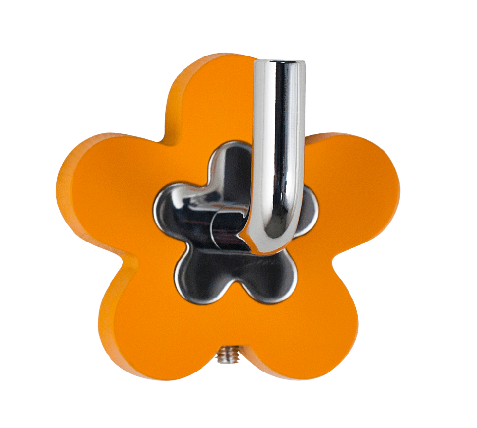 Крючок «Fiore» цвет оранжевый
