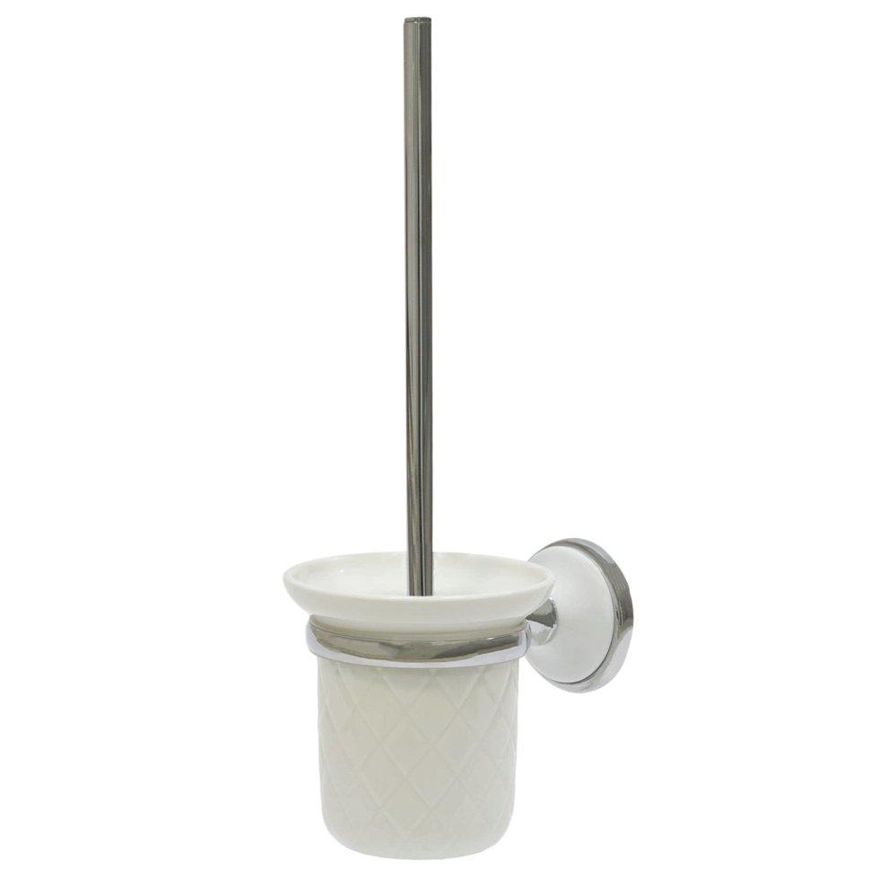 Ёршик для унитаза напольный «Aster» керамика цвет белый