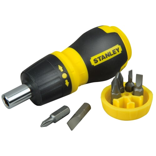 Отвёртка со сменными битами Stanley с храповым механизмом 6 предметов