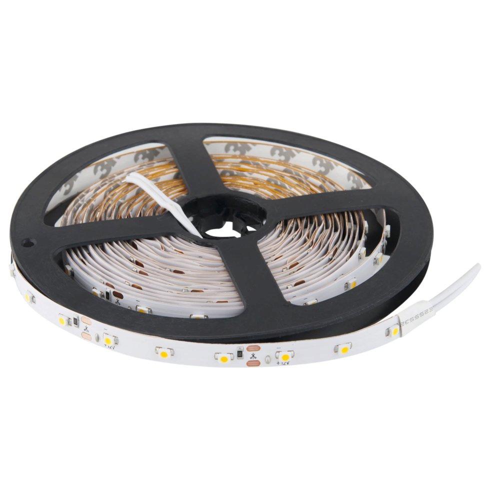 Светодиодная лента 4.8Вт/60LED/м свет холодный белый IP20 1 м