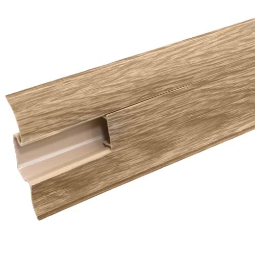 Плинтус напольный «Дуб Древний» ПВХ 55 мм 2.5 м цвет