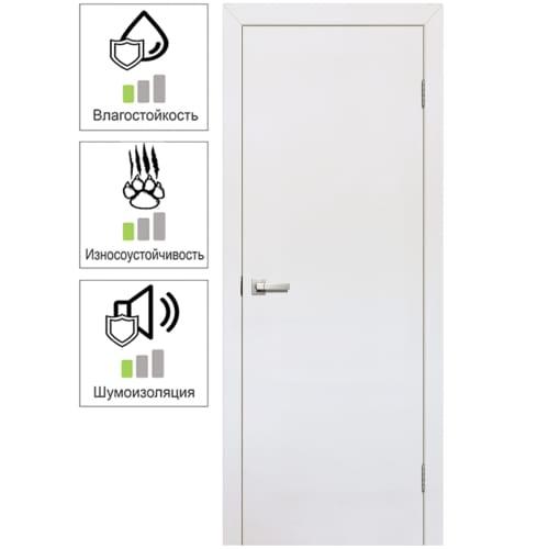 Полотно дверное глухое 70x200 см, ламинация, цвет белый