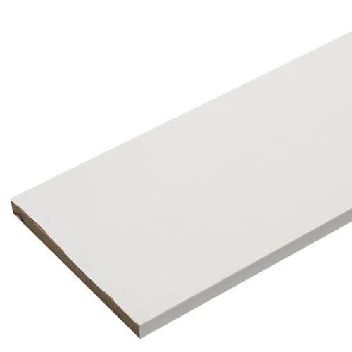 Добор 10x80x2070 мм, ламинация, цвет белый
