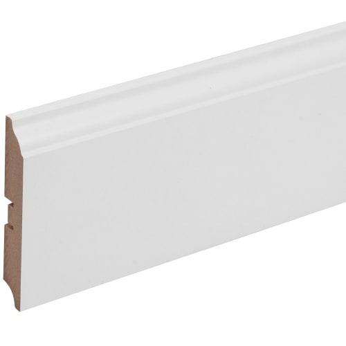 Плинтус напольный МДФ 105 мм 2.4 м цвет белый