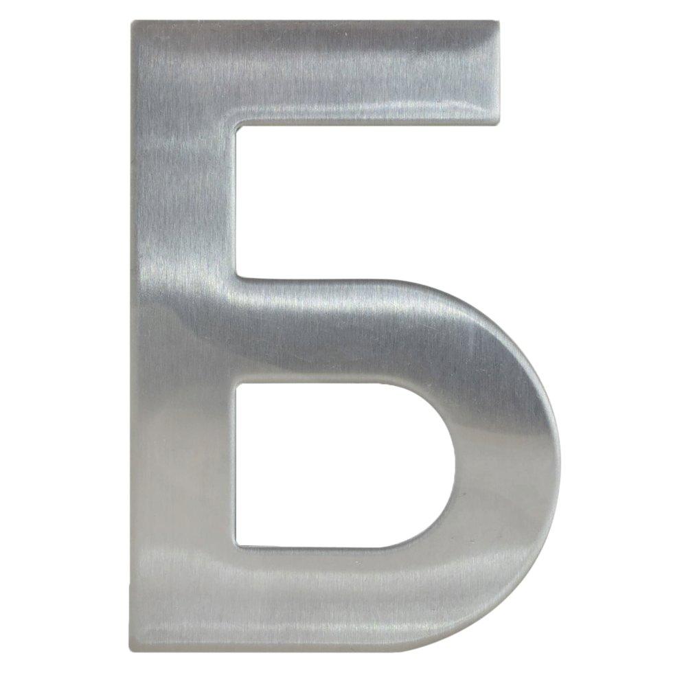Буква «Б» Larvij самоклеящаяся 95х62 мм нержавеющая сталь