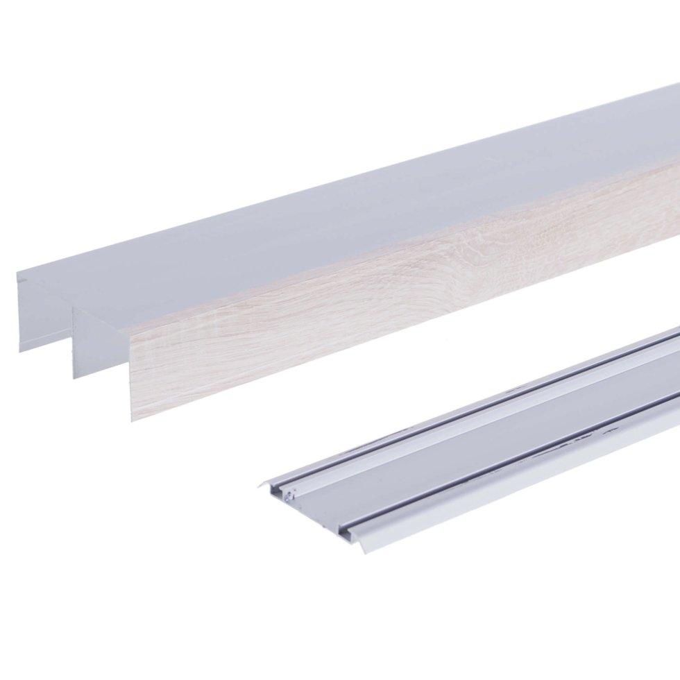 Комплект направляющих 1167 мм цвет дуб/серебро
