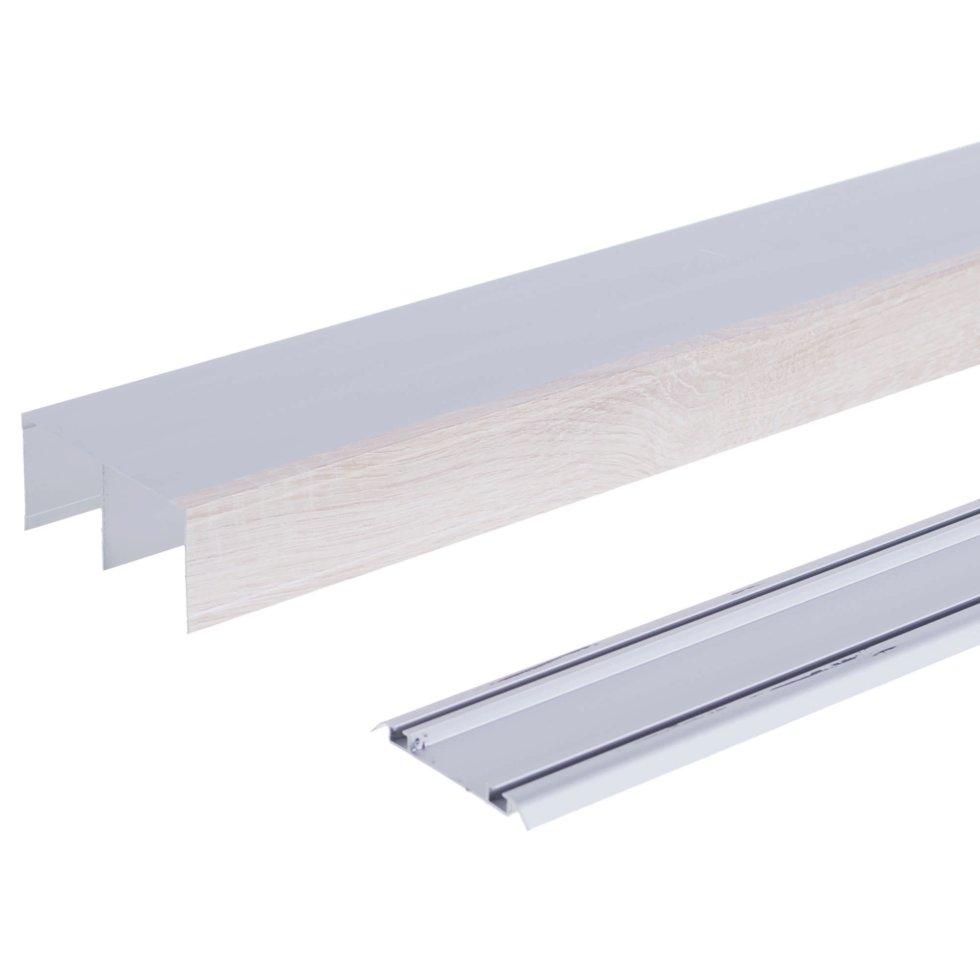 Комплект направляющих 2367 мм цвет дуб/серебро