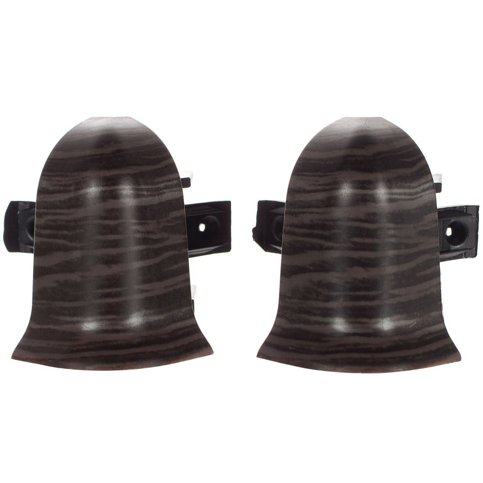 Угол для плинтуса внешний «Дуб Палёный» 47 мм 2 шт.