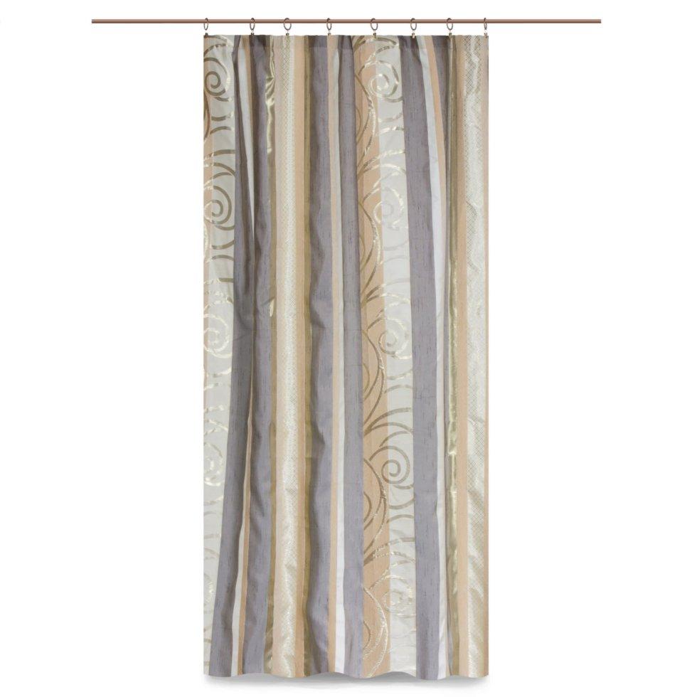 Штора на ленте «Фифини» 160x260 см цвет экрю