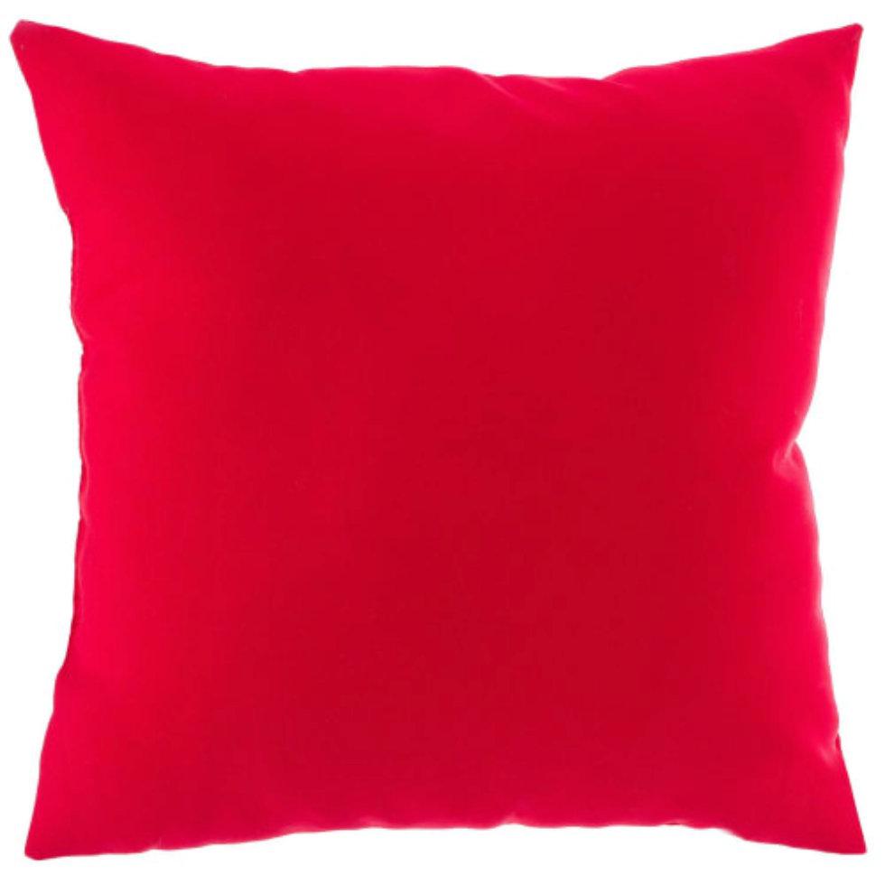 Подушка декоративная «Радуга» 40х40 см цвет красный