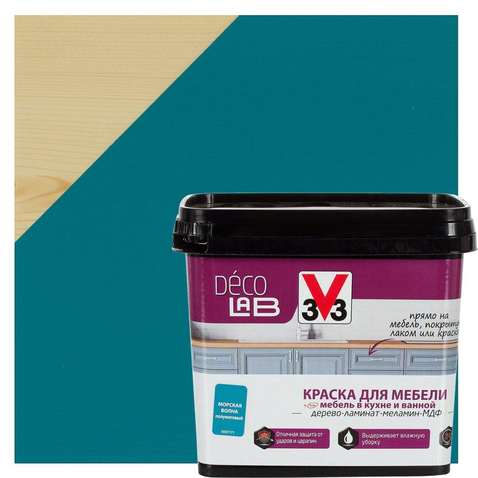 Краска для мебели V33 Decolab цвет морской волны 0.75 л