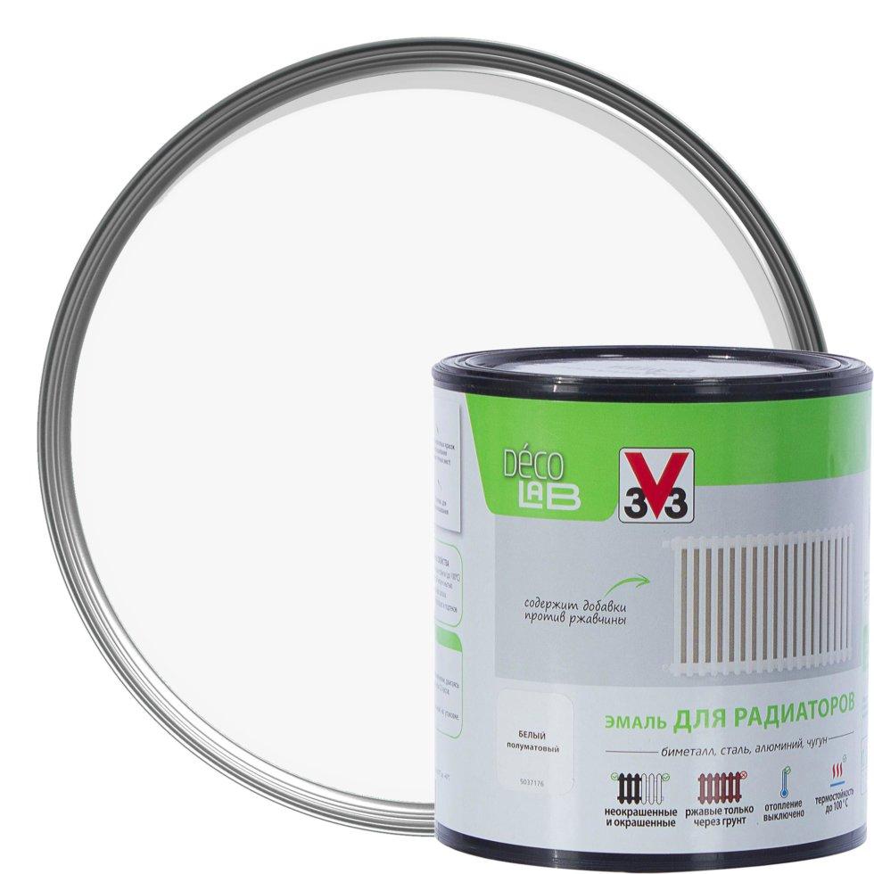 Краска для радиаторов V33 Decolab цвет белый 0.5 л